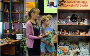 Светлана Петровна и Варвара Шороховы у своей выставки